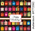 Celebration background with Birthday gift boxes and place for your text. vector illustration - stock vector