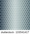 Cell metal background. Vector illustration - stock vector