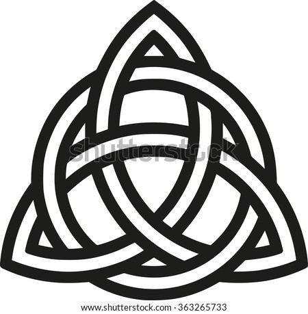 3 Point Celtic Triquetra Trinity Knot Stock Vector ...