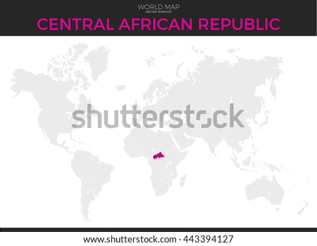 Africa Continent Location Modern Detailed Map Stock Illustration