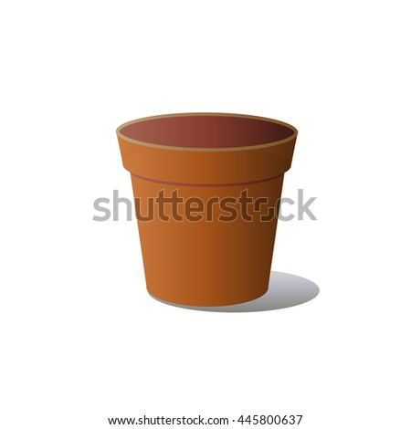ceramic pot of flowers on a white background