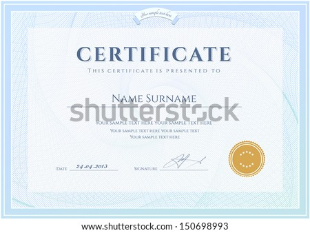 Certificate Diploma Completion Design Template Background – Winner Certificate Template