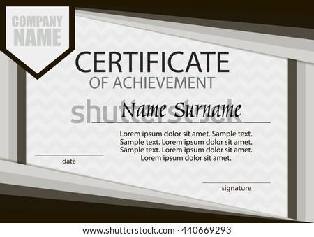 Diploma certificate reward winning competition award stock vector certificate of achievement template horizontal winning the competition reward award winner yelopaper Choice Image
