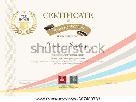 Certificate Participation Template Gold Border Gold Vector – Free Certificate of Participation Template