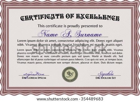 green diploma template certificate template vector stock vector  certificate or diploma template detailed complex linear background good design