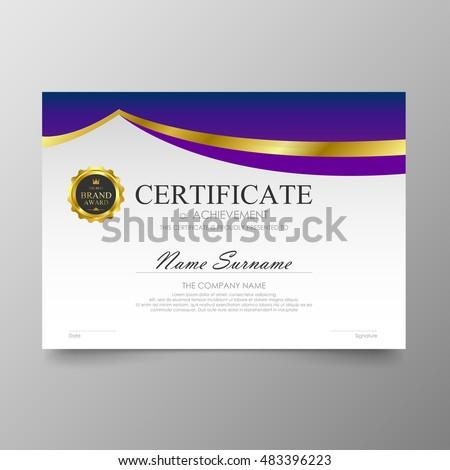 Certificate Template Layout Background Frame Design Stock Vector 295601387 Shutterstock