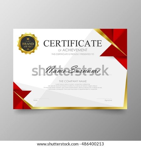 Certificate premium template awards diploma background stock certificate template awards diploma background vector modern value design and luxurious elegantlustration layout cover yelopaper Image collections