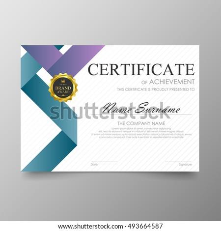diploma award certificate
