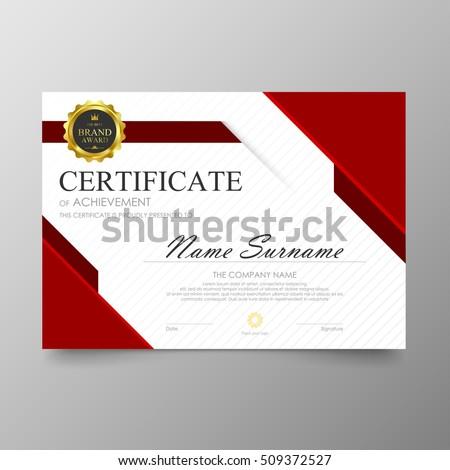 Certificate Premium Template Awards Diploma Background Stock