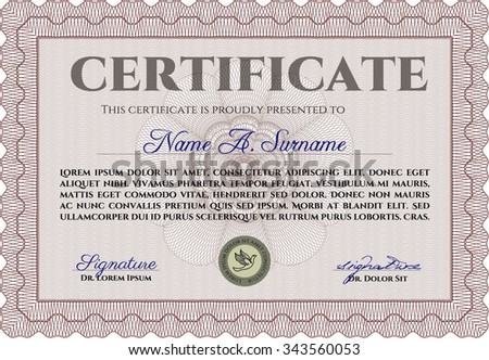 Modern Certificate Background Frame Design Template Vector – Money Certificate Template