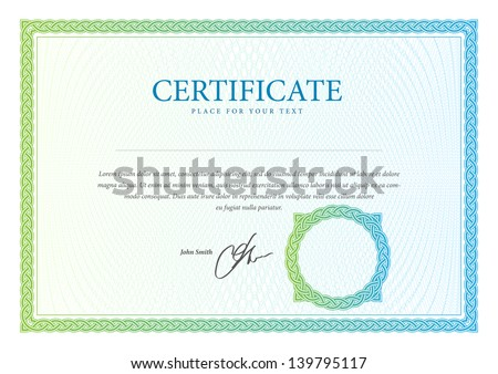 Template border diplomas certificate currency vector stock vector certificate template vector pattern that is used in currency and diplomas yadclub Choice Image