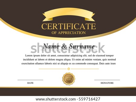 Vector Certificate Template Warranty Stock Vector