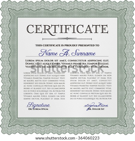 Horizontal Certificate Completion Template Golden Floral – Money Certificate Template