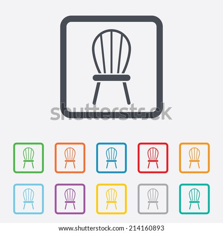 Modern Furniture Icon waiting sign airport seat icon stock vector 326441861 - shutterstock