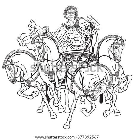 Roman Chariots Drawings Roman Warrior Chariot ...