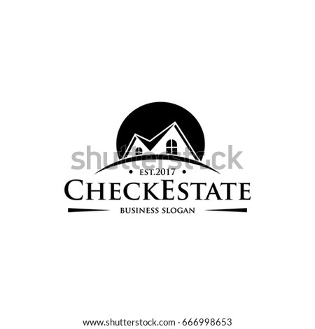 House Repair Logo Tools Icon Roof Stock Vector 373161745 Shutterstock