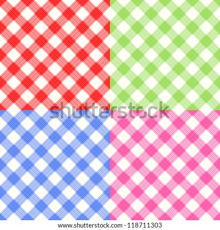 Checkerboard Tablecloth Seamless Pattern