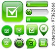 Checkmark green design elements for website or app. Vector eps10. - stock vector