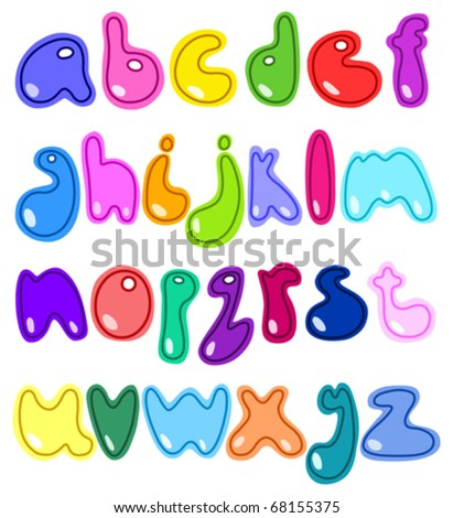 Cheerful small letters