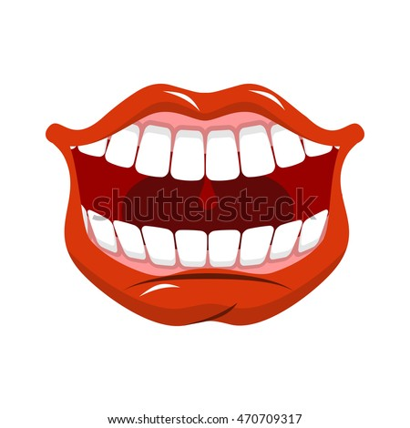 Funny Cartoon Monster Mouth Sticking Out Stock Vector ...