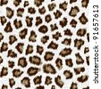 cheetah fur pattern tile - stock vector