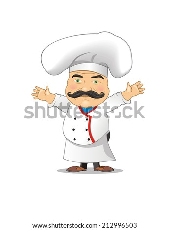 Chef distressed vector