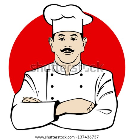 chef in red circle