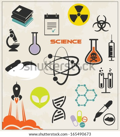 Chemical and science icons