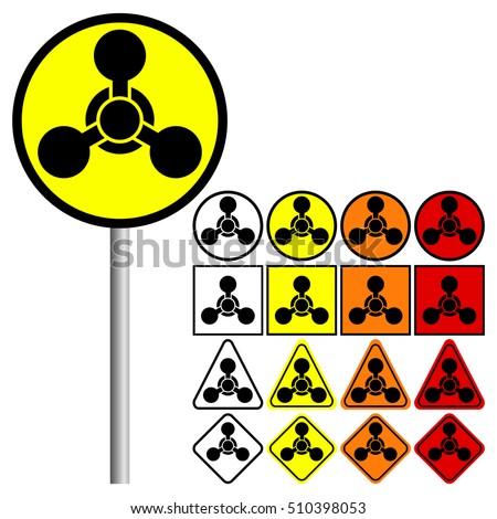 9 New Hazard Pictogram Hazard Warning Stock Vector ... Chemical Weapons Symbol