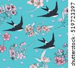 cherry blossom pattern with...