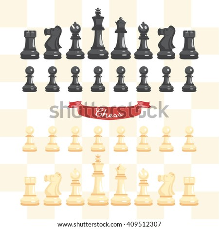Chess Game Vector Design