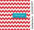 chevron seamless pattern background vector, thank you card - stock vector