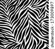 Chic vector seamless patterns (tiling). Animal print, zebra texture. Endless texture can be used for printing onto fabric and paper or scrap booking. Can be used as web sites backdrop. - stock vector