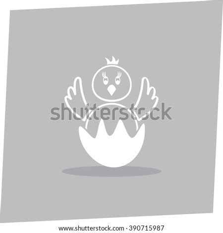 Chick vector icon
