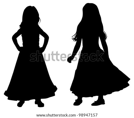 Little girl silhouette Stock Photos, Images, & Pictures ...