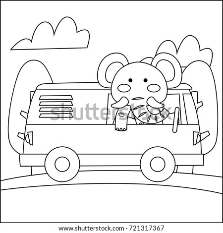 Children Coloring Book Animal Theme