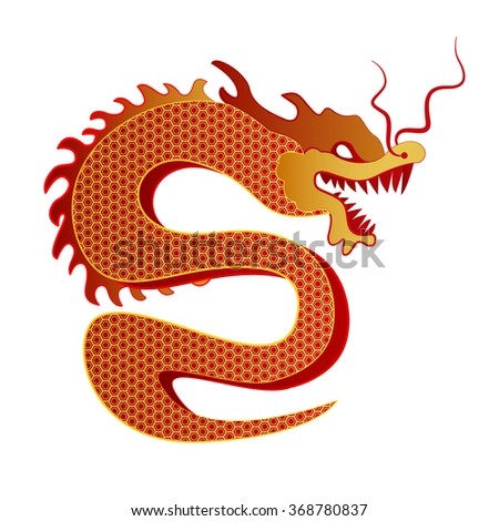 Chinese Dragon Traditional Culture. Vector illustration.