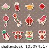 Chinese new year stickers - stock vector