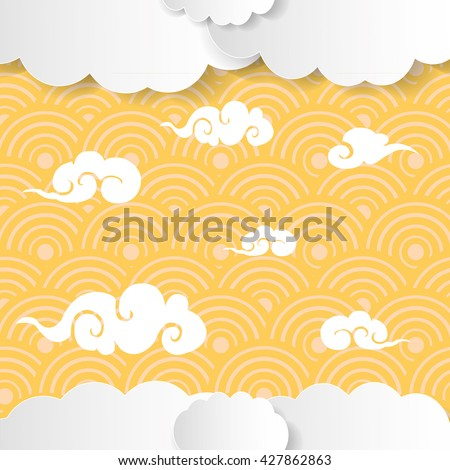 chinese traditional clouds pattern