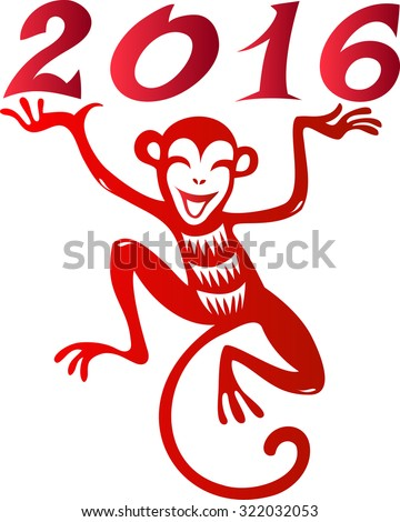 Chinese year of monkey 2016