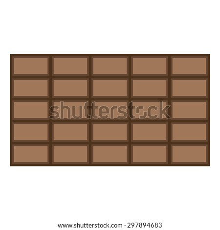 Chocolate icon on white background - vector illustration.