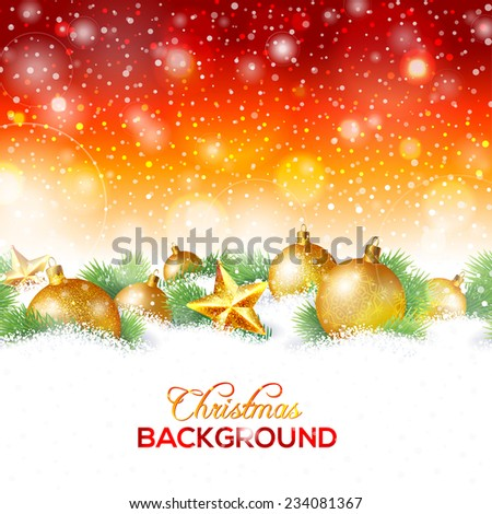 Christmas and New Year greeting card, background or banner