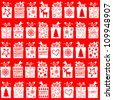 Christmas and New Year seamless pattern with gifts. Vector Illustration - stock vector