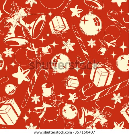Christmas background, red-white