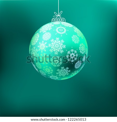 Christmas background with blue ball.  + EPS8 vector file