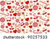 Christmas background with Candy cane. Vector - stock vector