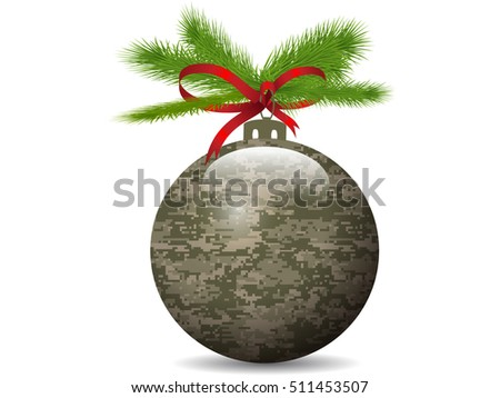 Christmas Camouflage ball.Vector