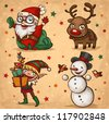 Christmas characters - stock vector