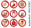 Christmas Characters and Symbols - stock photo