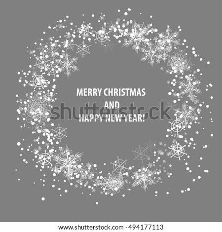 christmas circle. Vector template card for your design